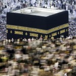 "Muslim pilgrims perform the ""Tawaf"" ritual around the Kaaba at Mecca's Grand Mosque before leaving the holy Saudi city at the end of the annual Hajj pilgrimage on December 10, 2008. The official Saudi News Agency (SPA) reported that the most recent statistics put the total number of pilgrims this year at more than 2.4 million, almost 1.73 million from abroad and 679,000 from within the kingdom, mostly foreign residents. (KHALED DESOUKI/AFP/Getty Images)"
