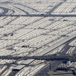 Thousands of tents housing Muslim pilgrims are crowded together in Mina near Mecca, Saudi Arabia, Tuesday, Dec. 9, 2008. (AP Photo/Hassan Ammar)