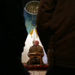 An Imam holds a mass for the Eid al-Adha Muslim Feast at a mosque in the town of Suvorovo, east of the Bulgarian capital Sofia, Monday, Dec. 8, 2008. (AP Photo/Petar Petrov)