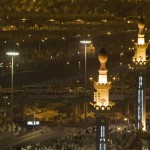 A general view of the tents of Muslim pilgrims in Mina, Saudi Arabia on December 9, 2008, where they will camp for three days and cast stones at pillars symbolising Satan. (REUTERS/Ahmed Jadallah)