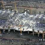 Millions of pilgrims participated in the ritual &quot;jamra&quot; or &quot;stoning of the Devil&quot;, represented by three stone pillars.