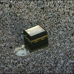 Pilgrims complete the Hajj in Mecca with the tawaf ritual of walking round the Kaaba seven times.