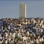Muslim pilgrims pray on a rocky hill called the Mountain of Mercy, on the Plain of Arafat near Mecca, Saudi Arabia, Sunday, Dec. 7. AP / Hassan Ammar