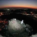 Muslim pilgrims visit al-Noor mountain where the Hiraa cave is located, overlooking the Saudi holy city of Mecca, late on Dec. 5. According to tradition, Islam&#039;s Prophet Mohammed received his first message to preach Islam while he was praying in the cave. Around two million Muslim pilgrims have flocked to the holy city of Mecca for the annual hajj pilgrimage. AFP / Getty Images / Khaled Desouki