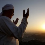 A Muslim pilgrim prays at the top of Mount Noor in Mecca, Saudi Arabia, Friday, Dec. 5. The pilgrims will visit the Hera cave in Mount Noor where the Prophet Mohammad worshipped before the revelation. Mecca at that time was a society governed by ignorance and corruption and in order for the Prophet to worship in privacy, he went alone to Hera cave outside the city. His solitude was spent in prayer and reflection. AP / Hassan Ammar