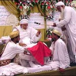 They received the blessing of the community's 92-year-old spiritual leader, Syedna Burhanuddin.
