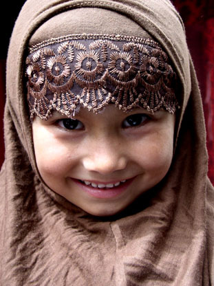 Chinese Muslim girl from Xinjiang, China