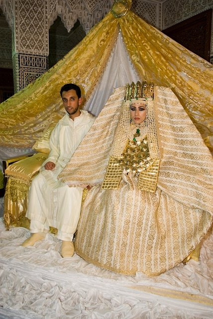Gold islamic wedding dresses