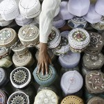 Karachi, Pakistan: A vendor sells caps in preparation for the first day of Ramadan, which this year fell on September 13th.
