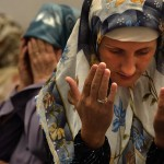 St. Louis, Missouri, USA: Women pray at the Islamic Community Center in south St. Louis during Ramadan.