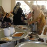 Kitchen area at a Malay wedding