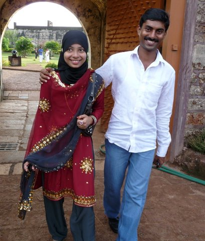 Muslim couple in Kerala, India