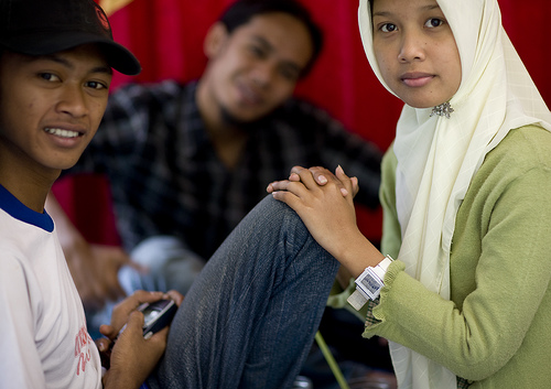 Muslim teenagers in Java, Indonesia
