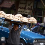 Cairo boy selling bread