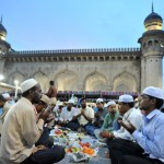 Breaking Ramadan fast at Mecca Masjid in Hyderabad