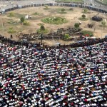 People gather for Eid-ul-Fitr prayer in Tahrir Square in Cairo, Egypt - 2011
