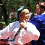 Uighur Muslims dancing.