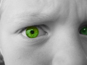 jealousy green eyes %photo