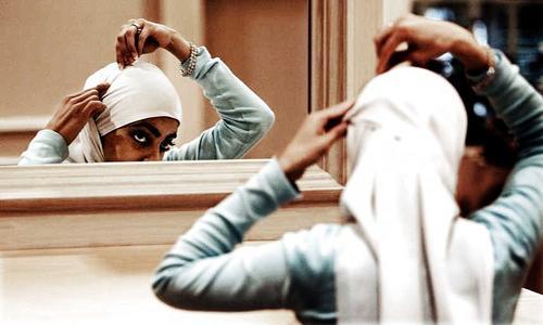 hijab at home