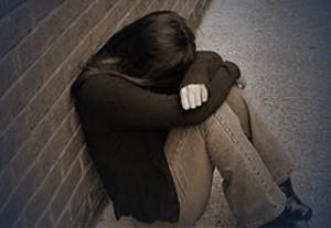 Depressed girl heartbroken distressed
