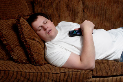 unwanted houseguest, lazy man, too much tv