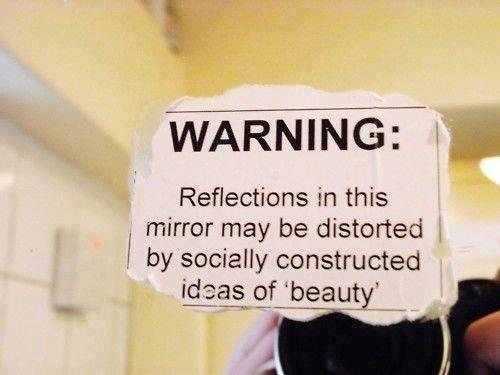 Reflection may be distorted