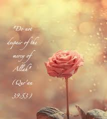 do not despair mercy forgiveness tawban repent