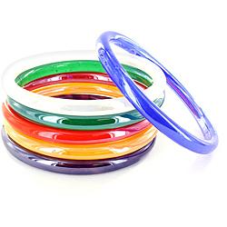 Bracelets, glass bangles