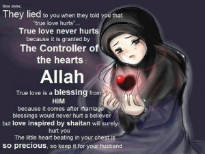 True love comes from Allah swt alone rest are shaytans whispers to trick us. 300x225 %photo
