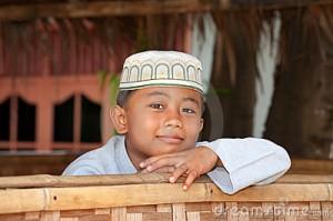 Smiling Muslim boy