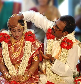 A Hindu wedding.
