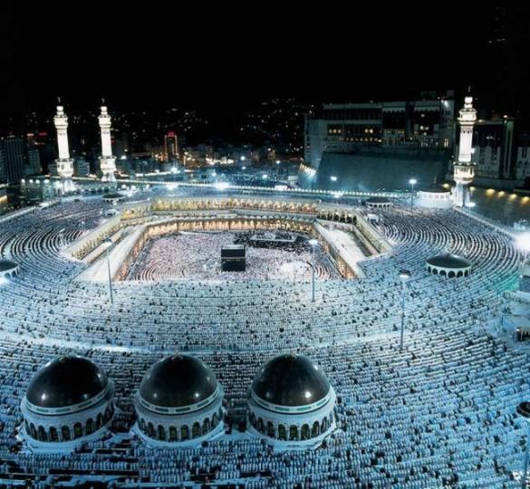 Masjid-al-Haram in Makkah (the Sacred Mosque) during Hajj season