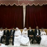 A mass wedding in Idku, Egypt