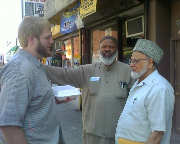 """Imam Suhaib Webb, Imam Siraj Wahhaj (""""America's Imam), and Cha Cha Jaan Shamin."""