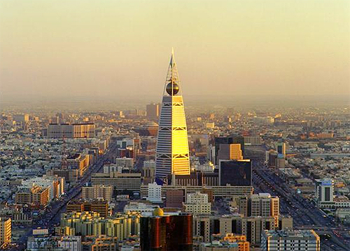 Riyadh Saudi Arabia, with the Al Faisaliah Hotel in the center