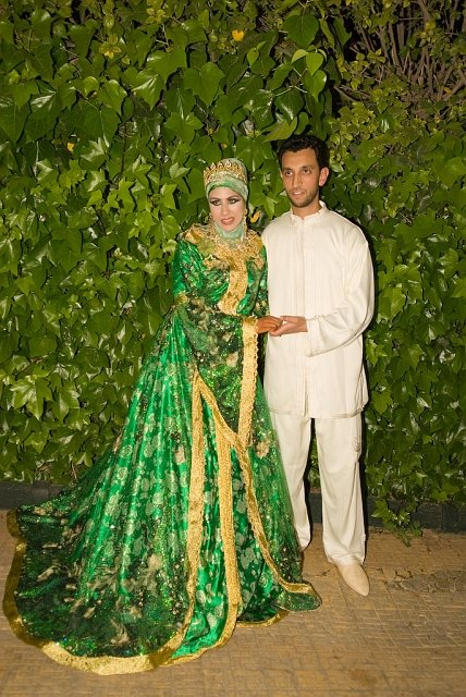 Then The Bride Looks Like A Forest Queen In Green Dress