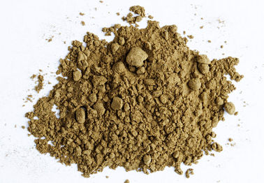 Brown heroin powder.