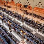 Muslims breaking Ramadan fast at Imam Turki mosque in Riyadh, Saudi Arabia