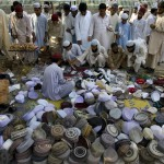Traditional Pakistani Muslim caps for sale in Ramadan