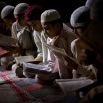 Pakistani children at a madrassa in Ramadan