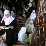 Jerusalem, Israel: Palestinian women attend the first Friday prayers of Ramadan at the Al-Aqsa Mosque.