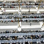 Riyadh, Saudi Arabia: Foreign workers gather for iftar, the meal which marks the end of the daily fast during the holy month of Ramadan.