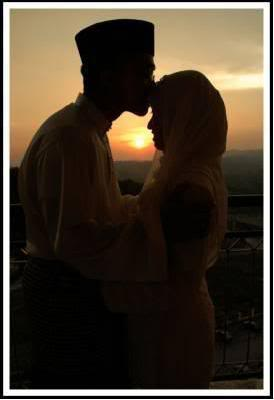 Indonesian Muslim couple in love