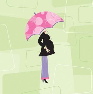 Pregnant woman cartoon image