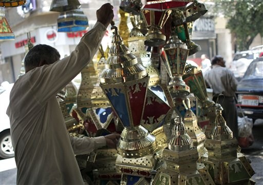 Getting ready for ramadan for Shopping in cairo