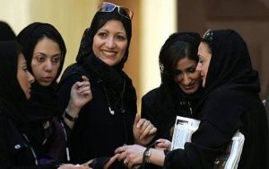 Saudi women visiting Bahrain