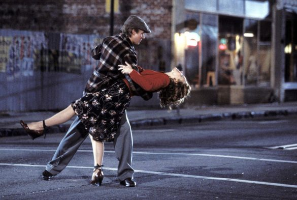 Hollywood romance scene