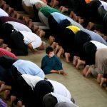 Muslims in Putrajaya, Malaysia pray during Ramadan.