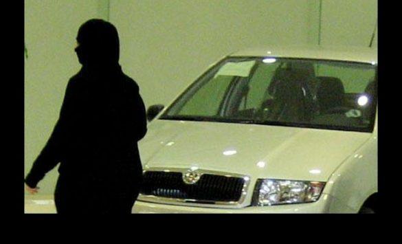 Saudi woman beside a car