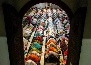 Muslims in Surabaya, Indonesia pray during Ramadan.